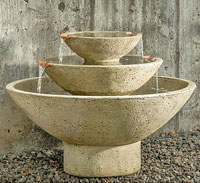 Carrera Tiered Bowl Water Fountain Photo Credit : Outdoor Art PROS