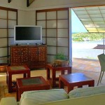 Anguilla beachfront home with Japanese style