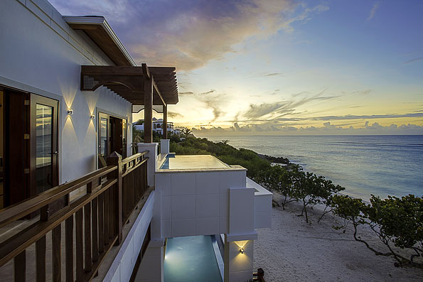 Caribbean Beachfronts - Windy or Not? Beachfront home in Anguilla facing the calm Caribbean sea.