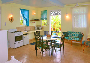 Dominica guest house with electric water heater