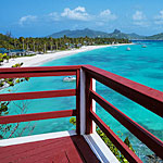 Caribbean Villa's Timber balcony
